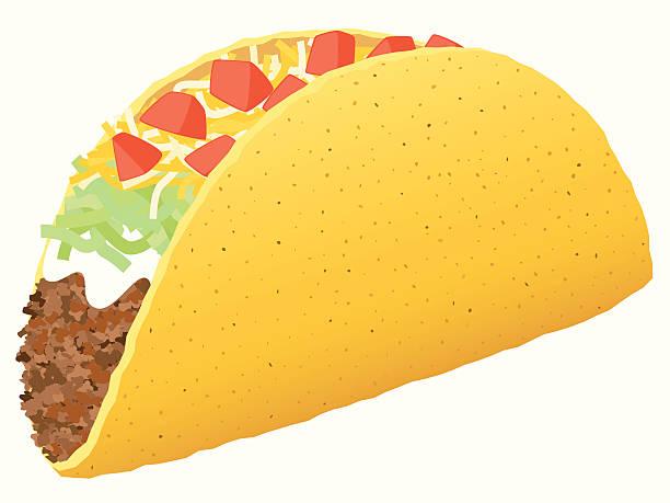 taco - taco stock illustrations, clip art, cartoons, & icons