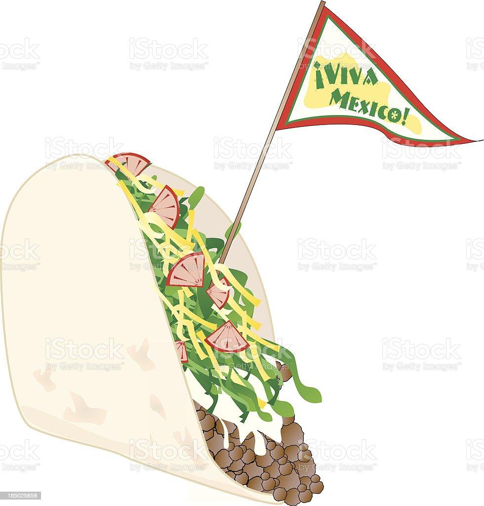 Taco Viva Mexico! royalty-free stock vector art
