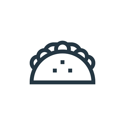 tacos icon vector from cinco de mayo concept. Thin line illustration of tacos editable stroke. tacos linear sign for use on web and mobile apps, logo, print media..