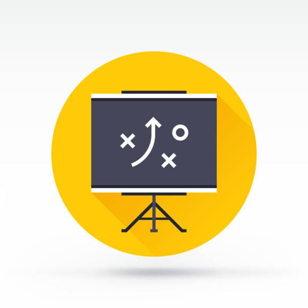 illustrations, cliparts, dessins animés et icônes de icône de tactique - coach sportif
