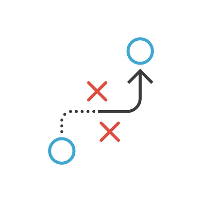 Tactic vector icon. Flat design