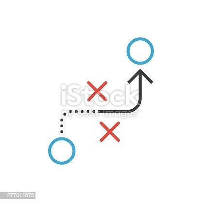 istock Tactic vector icon. Flat design 1277011873