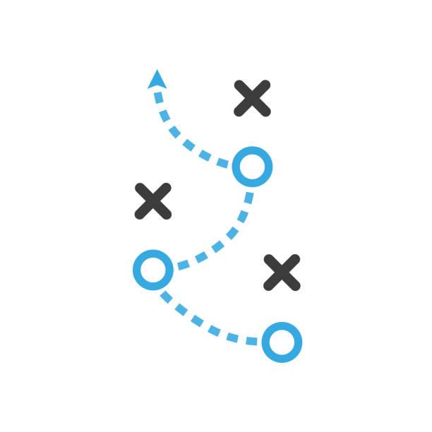 taktik-vektor-symbol. flaches design - strategie stock-grafiken, -clipart, -cartoons und -symbole