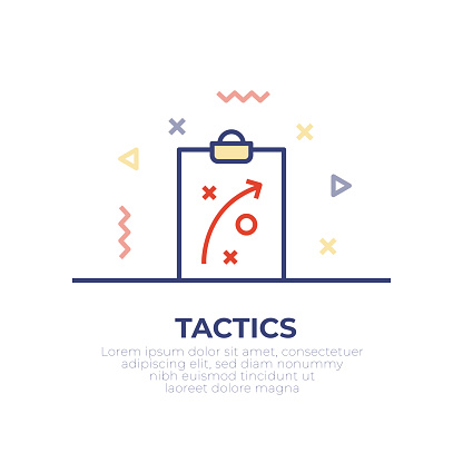 Tactical Board Outline Icon Design