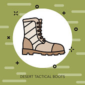 Tactical Boots Military Icon