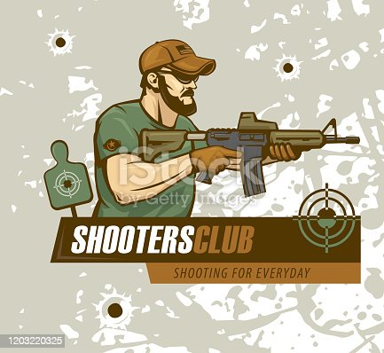 Tactical shooting special force sport club logo