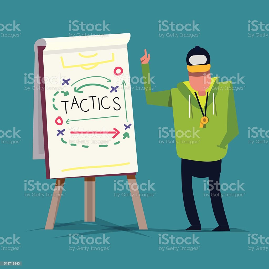 Tactical Training. sport. presentation - vector illustration vector art illustration