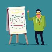 Tactical Training. sport. presentation - vector illustration