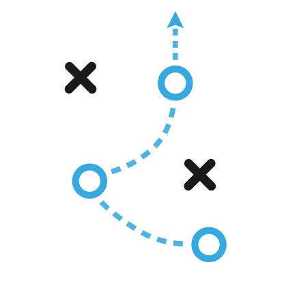 tactics business concept vector icon illustration