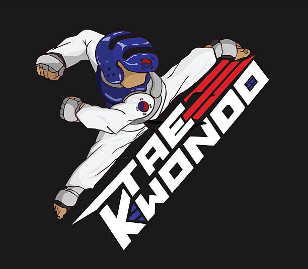 tae kwon do - taekwondo stock illustrations, clip art, cartoons, & icons