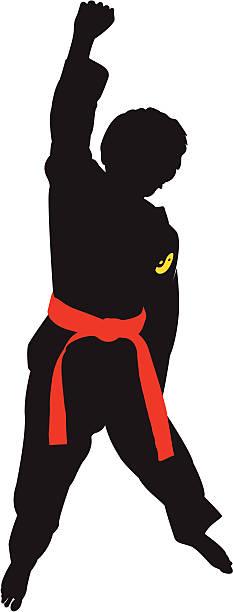 Taekwondo clipart vector art illustration