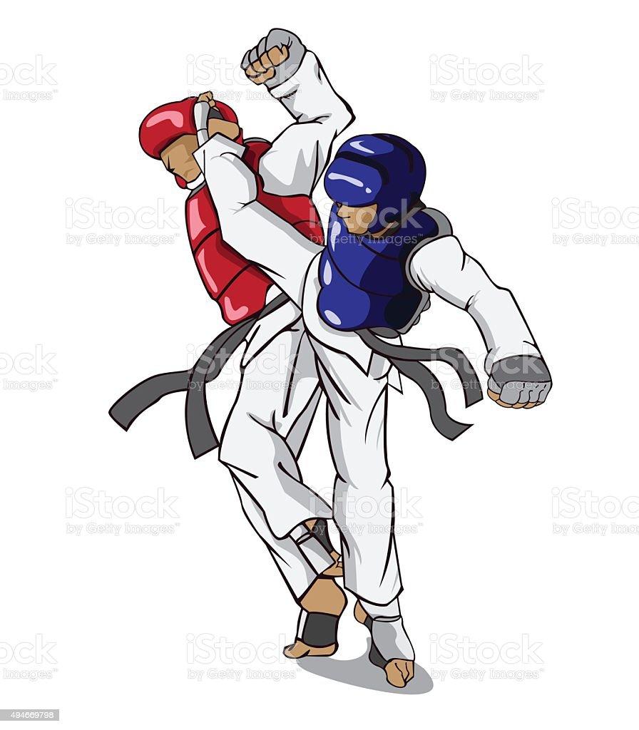 Taekwondo Martial Art Stock Vector Art More Images Of 2015