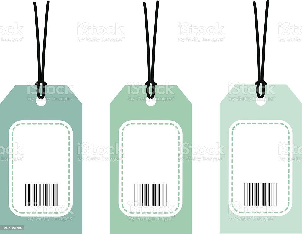 Tag barcode vector art illustration