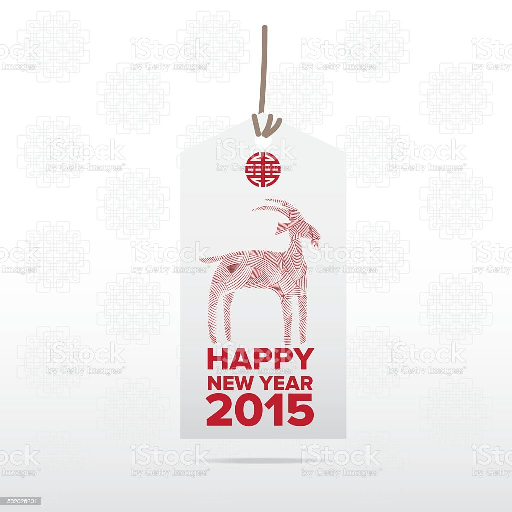 tag chinese goat happy new year royalty free stock vector art