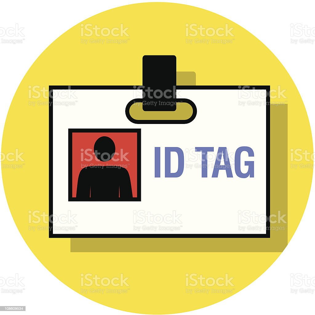 ID tag icon royalty-free stock vector art