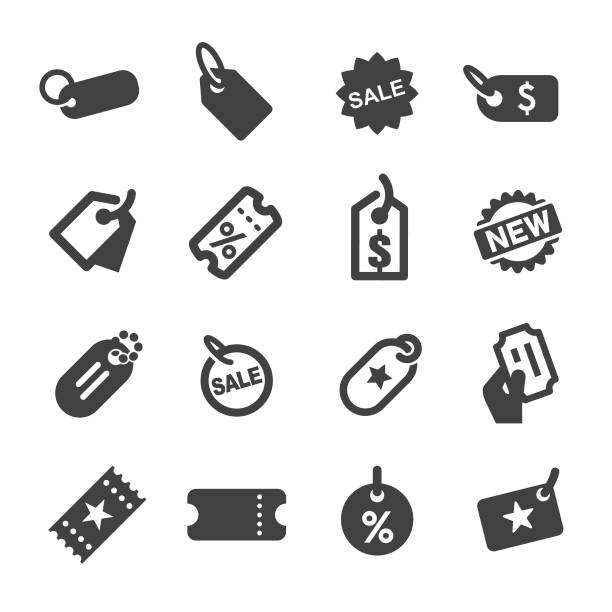 Tag Icons - Acme Series Tag, Ticket, coupon stock illustrations