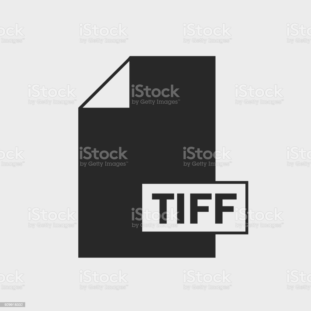 Tag Image File Format (TIFF) file format Icon on gray background. vector art illustration