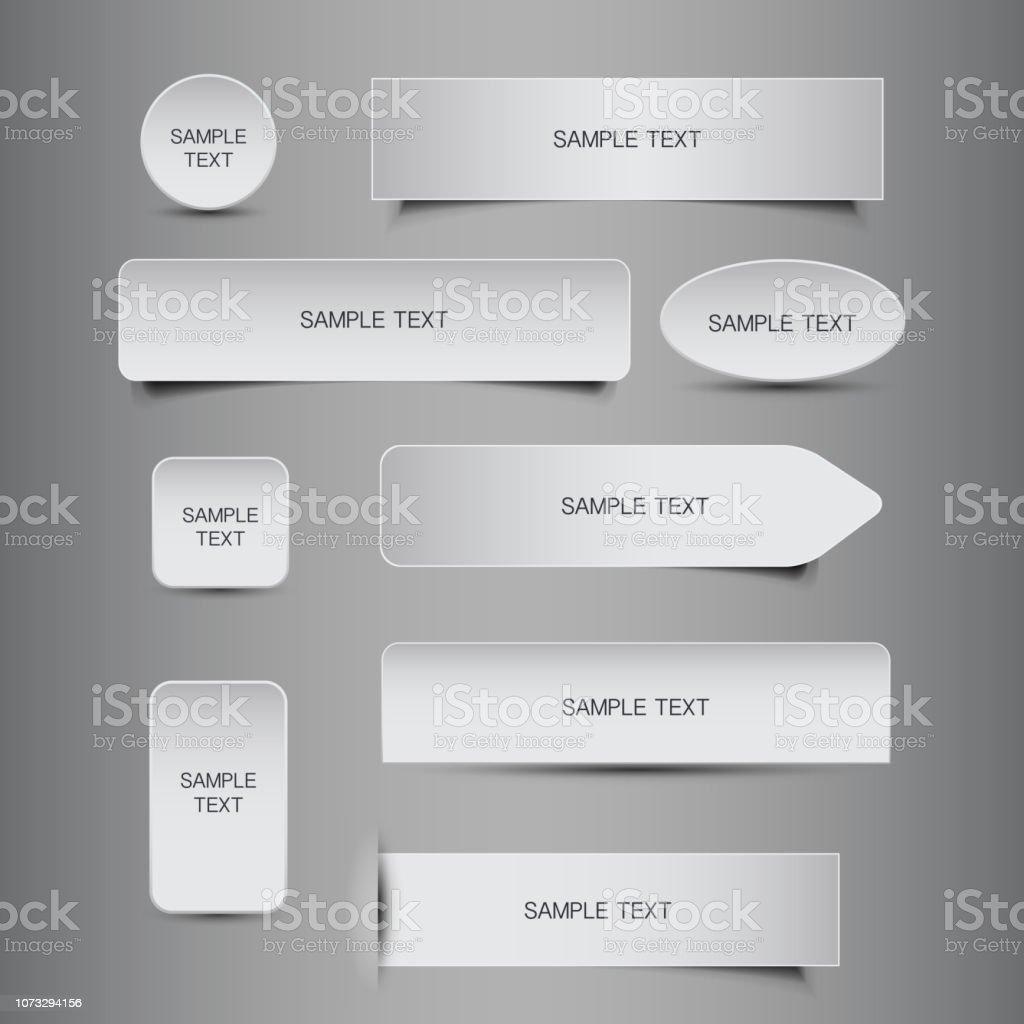 Tag, Label, Bannerdesigns – Vektorgrafik
