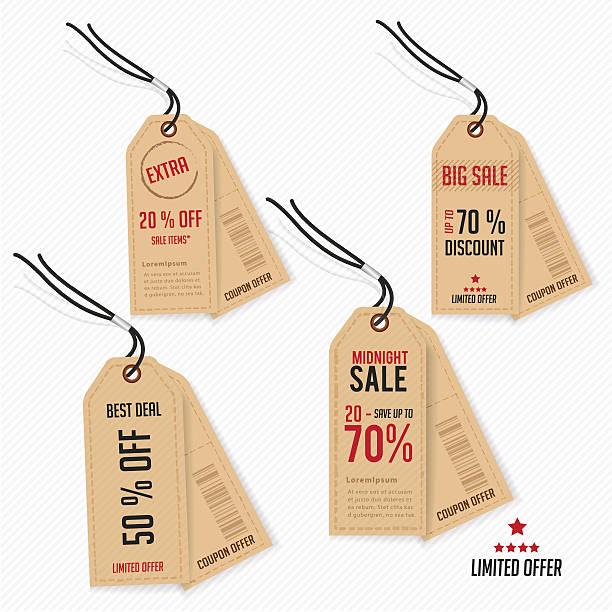 tag cena oferty i promocji. - dotykać stock illustrations
