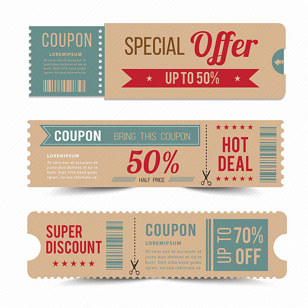 tag price offer and promotion. - coupon stock illustrations, clip art, cartoons, & icons
