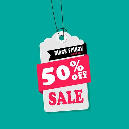 Tag Försäljning Svart Fredag 50 Rabatt På Försäljning Vektor Bild-vektorgrafik och fler bilder på Affär