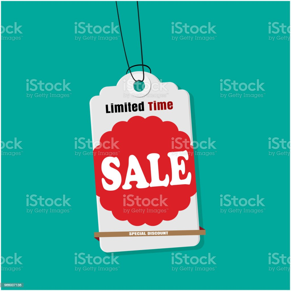 Tag Sale Limited Time Sale Vector Image - Royalty-free Auction stock vector