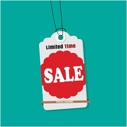 Label Sale Limited Time Koop Vector Image Stockvectorkunst en meer beelden van Badge