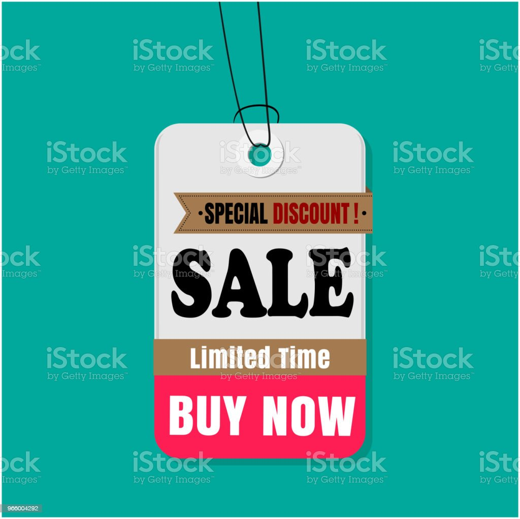 Label Sale speciale korting koop Limited Time koop nu Vector Image - Royalty-free Advertentie vectorkunst