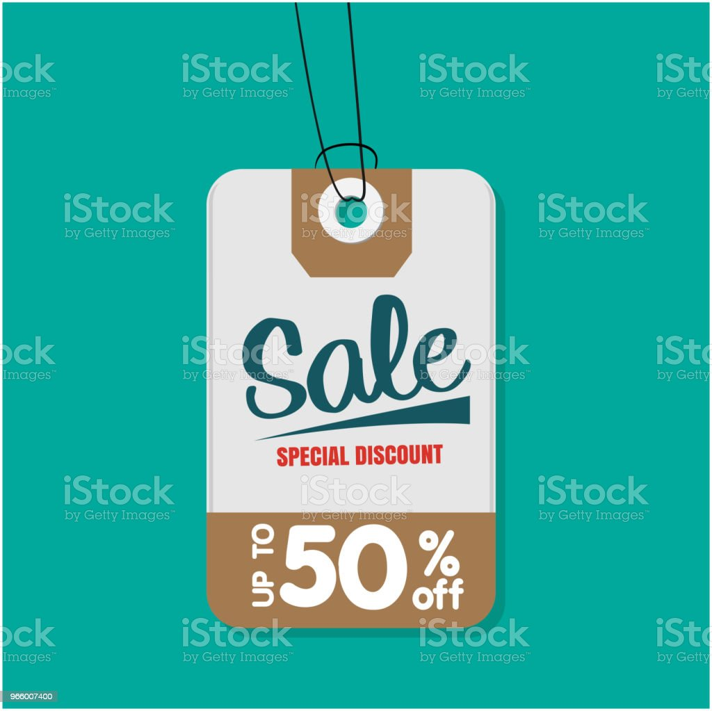 Tag Sale Special Discount Up To 50% Off Vector Image - Royalty-free Advertisement stock vector