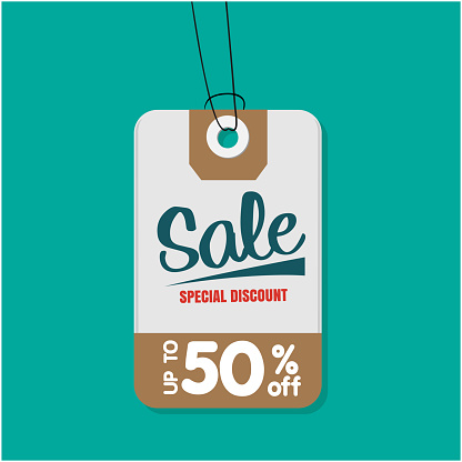 Tag Sale Special Discount Up To 50 Off Vector Image Stock Illustration - Download Image Now