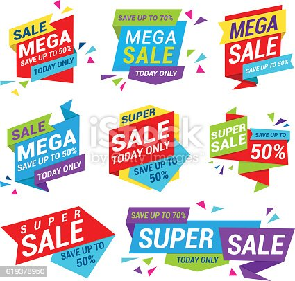 Vector illustration of the sale tag template
