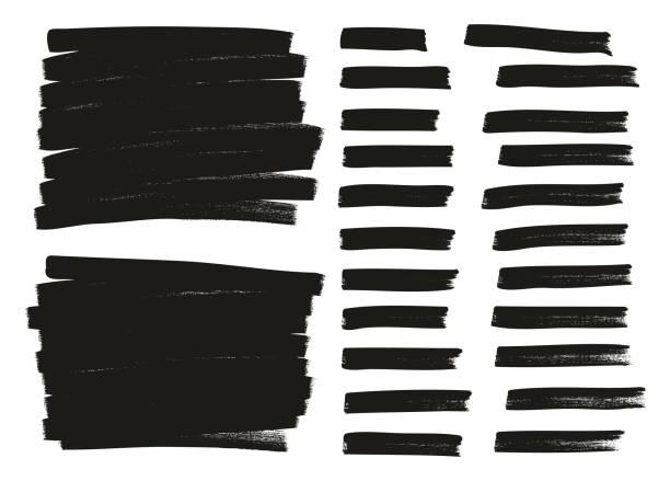 tagging marker medium lines & backgrounds high detail abstract vector background set 16 - uderzać stock illustrations