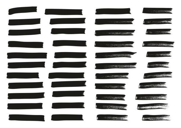 tagowanie znacznika średnie linie wysoki szczegół abstrakcyjny zestaw tła wektora 83 - linia stock illustrations