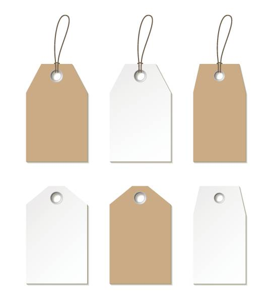 Tags mock up. Vector set of empty labels templates Tags mock up. Vector set of empty labels templates gift card stock illustrations