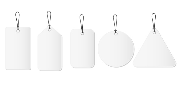 Tags price design. Blank template. Vector mockup.