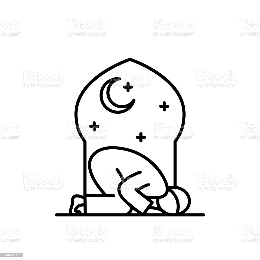 Tahajud Sujud Muslim Praying At The Night Time In The Mosque