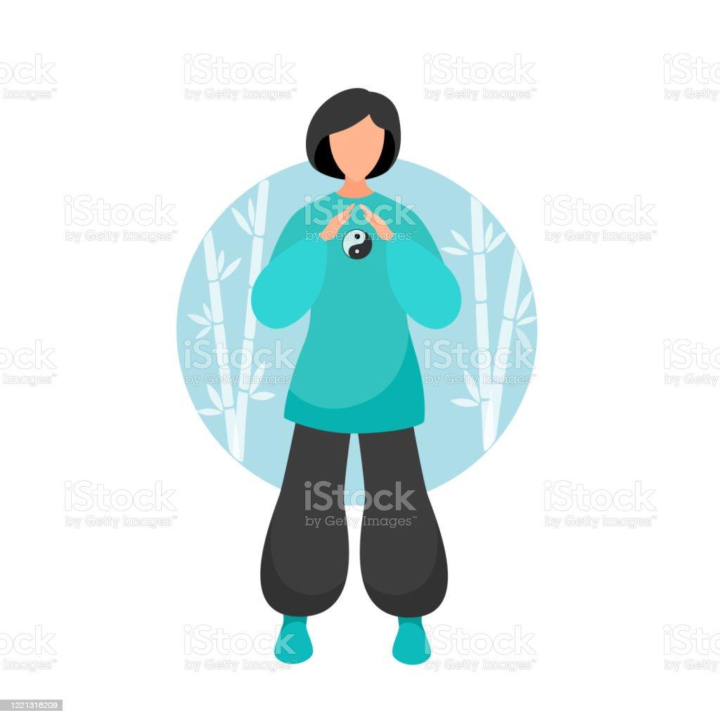 Exercices De Tai Chi Et De Qigong Avec Boule De Tai Chi Vecteurs Libres De Droits Et Plus D Images Vectorielles De Activite Istock