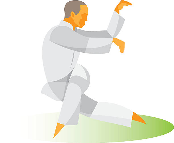 Tai Chi exercise Tai Chi exercise qigong stock illustrations
