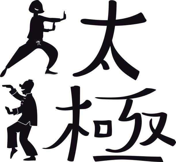 Best Tai Chi Class Illustrations, Royalty-Free Vector