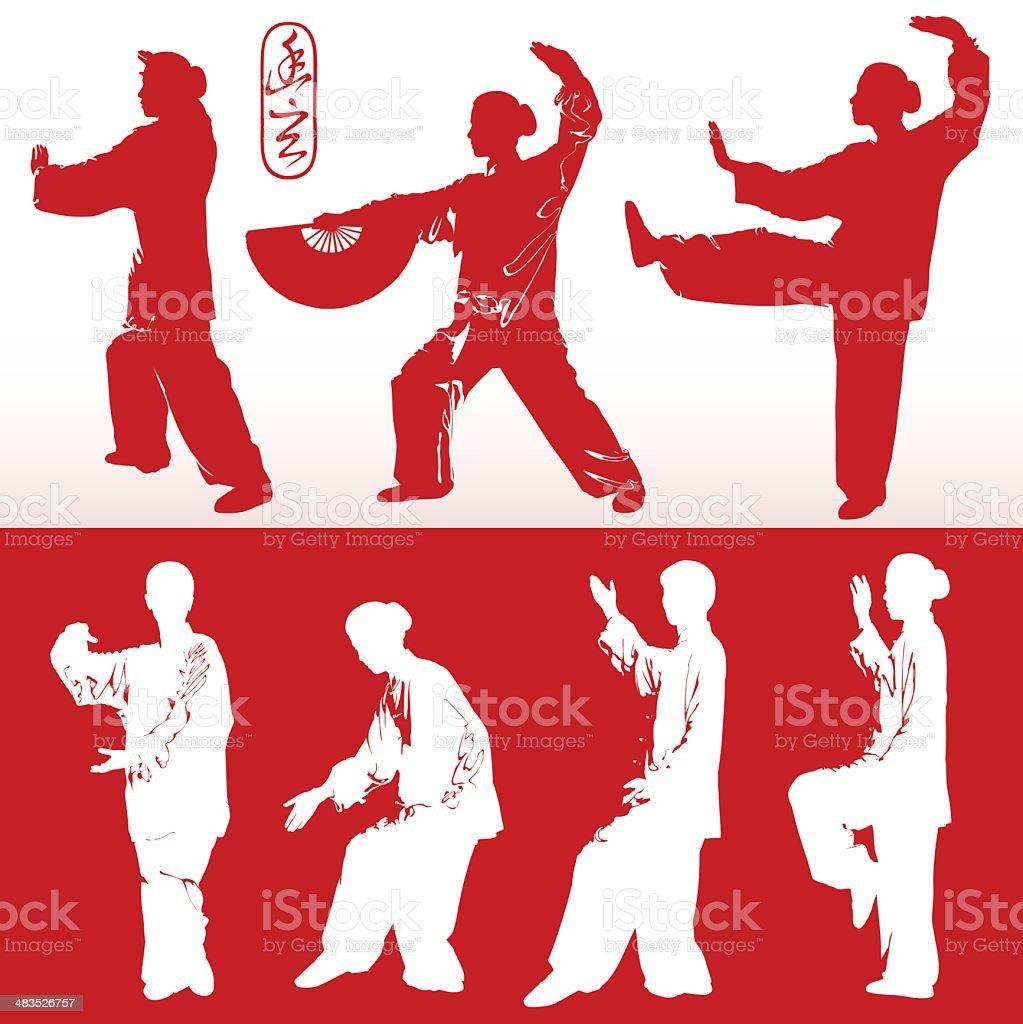 Tai Chi (vector) royalty-free tai chi stock vector art & more images of activity