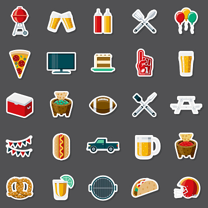 Tailgating Party Sticker Set