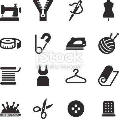 Vector file of Tailor Icons