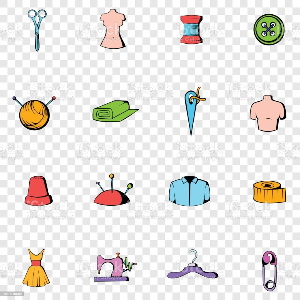 Tailor set icons royalty-free tailor set icons stock vector art & more images of atelier - fashion