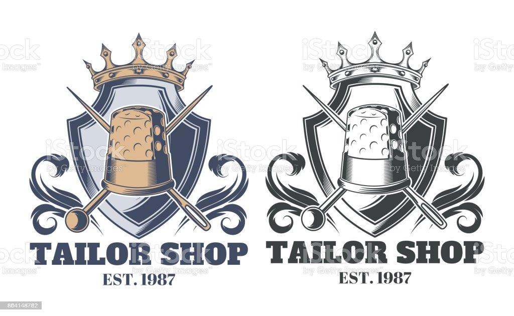 Tailor shop vintage emblem or signage vector royalty-free tailor shop vintage emblem or signage vector stock vector art & more images of advertisement
