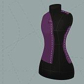 Dark colored tailor's dummy