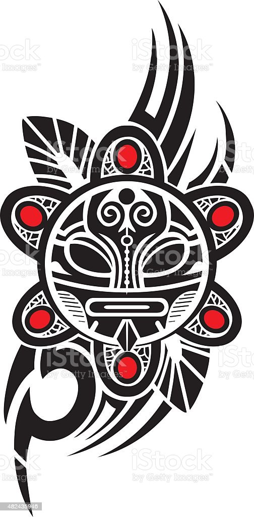 Taino Sun Stock Vector Art Amp Amp More Images Of 2015 482435946
