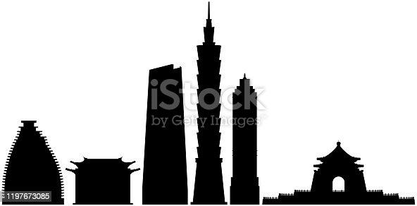 Taipei buildings.