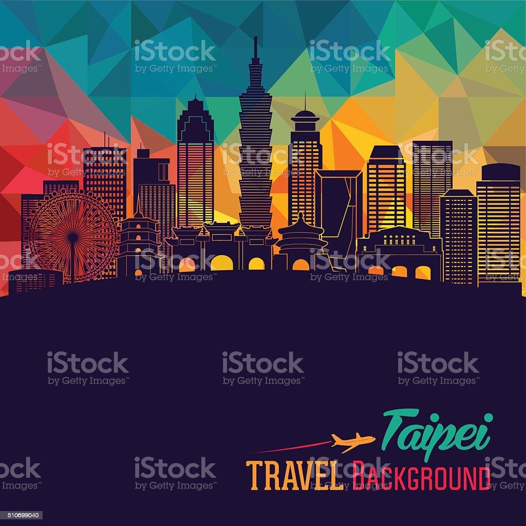 Taipei detailed skyline. Vector illustration vector art illustration