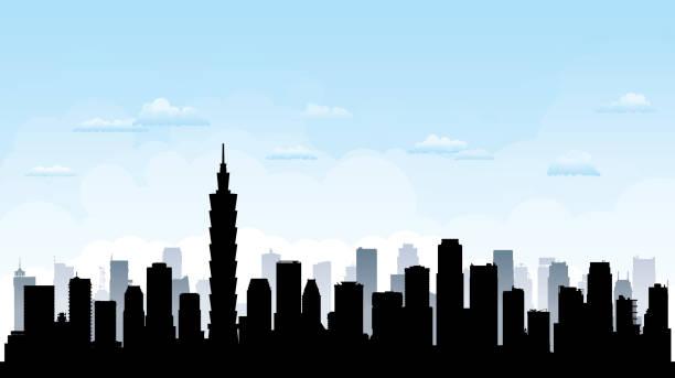 台北のスカイライン (すべての建物が完成し可動) - 台湾点のイラスト素材/クリップアート素材/マンガ素材/アイコン素材