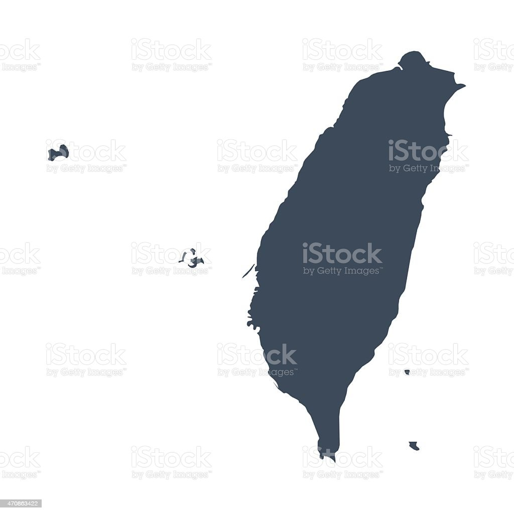 Taiwan Land Karte – Vektorgrafik
